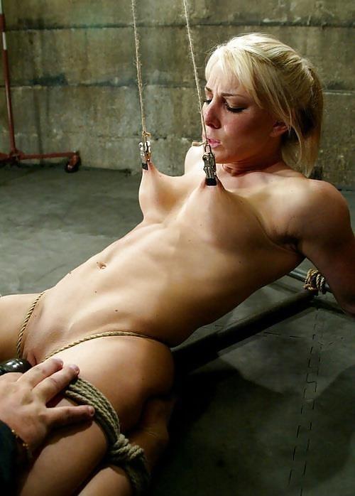 Breast bondage and torture-9526
