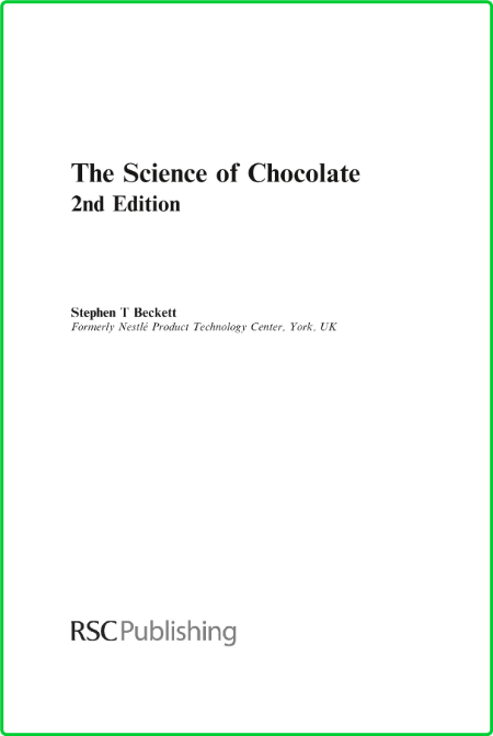 The Science of Chocolate by Stephen T Beckett