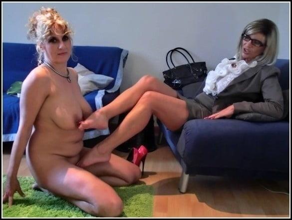 Foot slave lesbian-8018