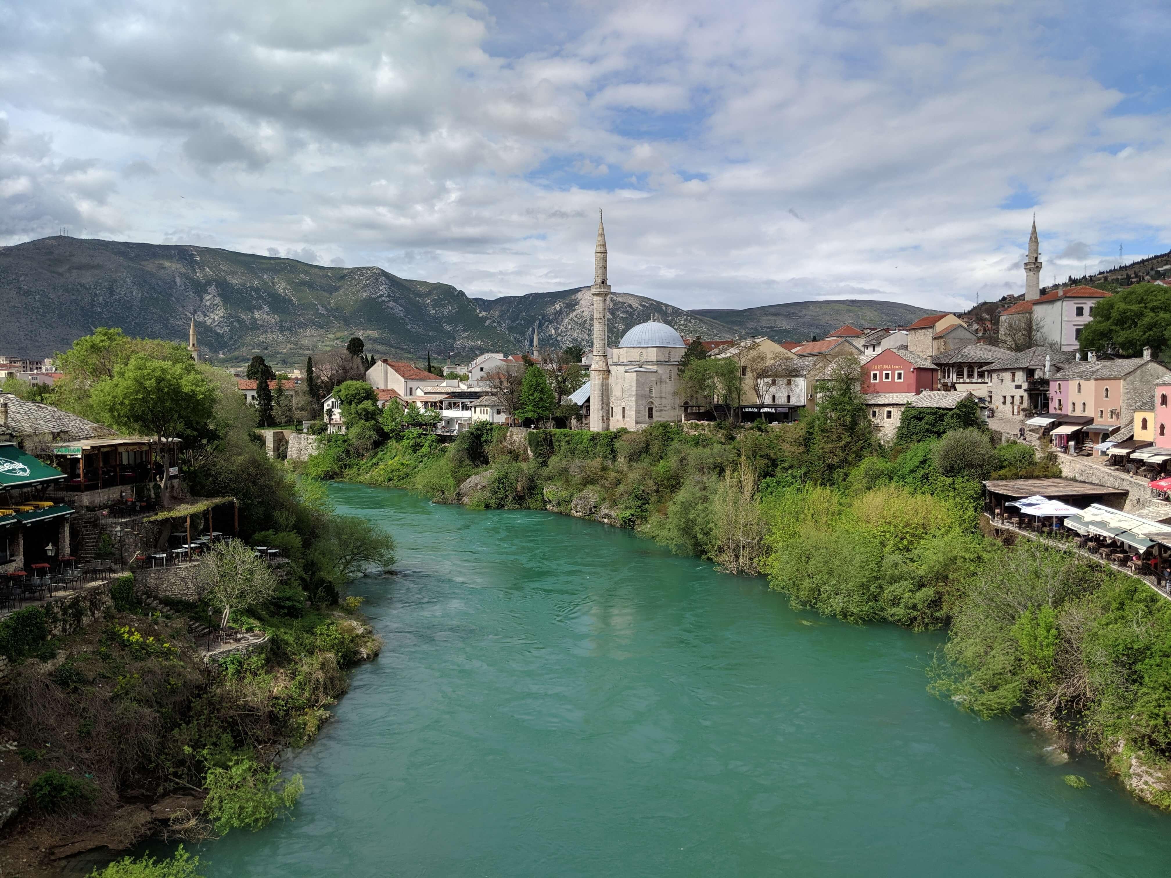 View from Mostar Bridge