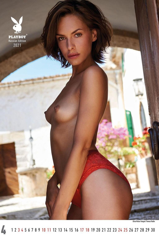 Эротический календарь журнала Playboy Россия на 2021 год / апрель / Olivia Peltzer