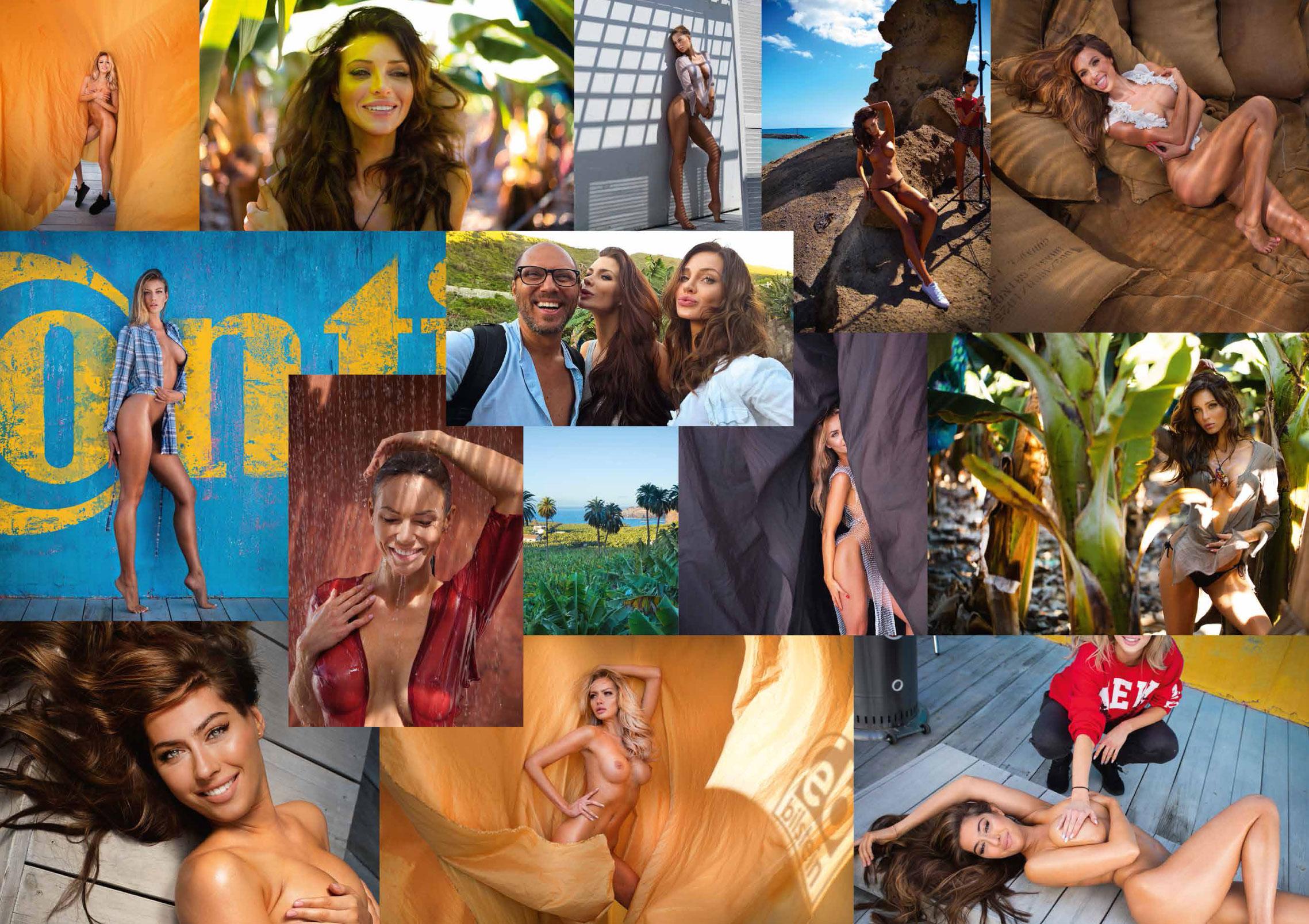 Сексуальные фотомодели в эротическом календаре Inter Cars 2020 / за кулисами съемочной площадки