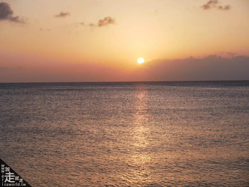 宮城海灘夕陽