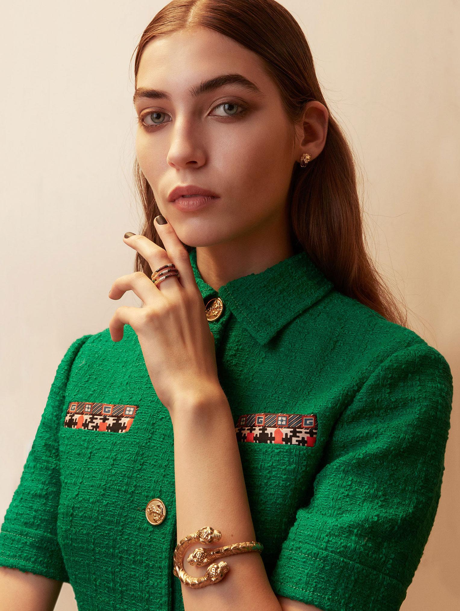 Елена Карьере в модной одежде Gucci, коллекция осень-зима 2019/20 / фото 09