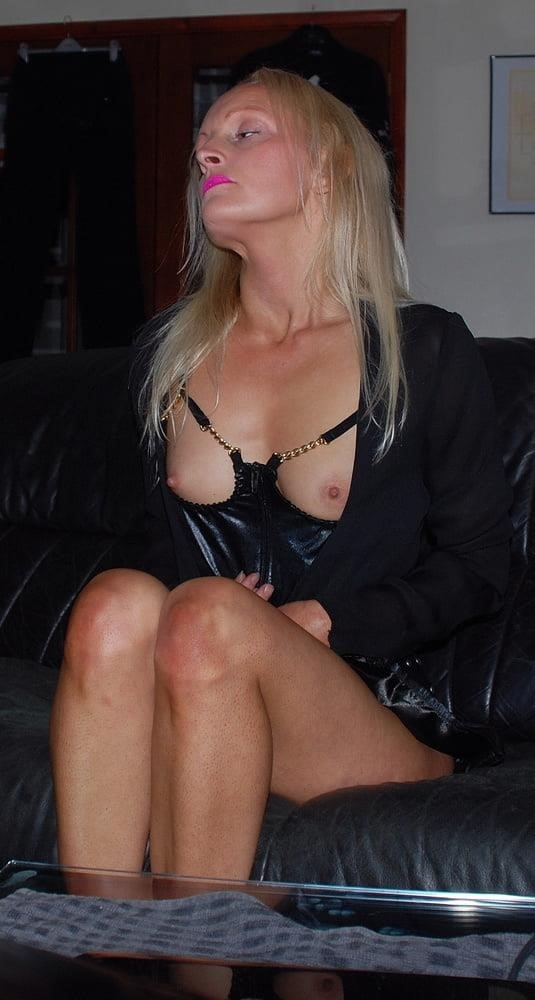 Black real leather mini skirt-5451