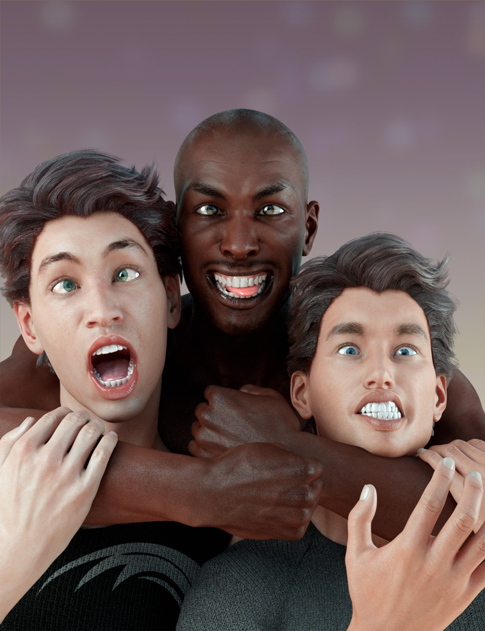 Grimaces - Morph Dial & One-Click Expressions for Genesis 3 Male