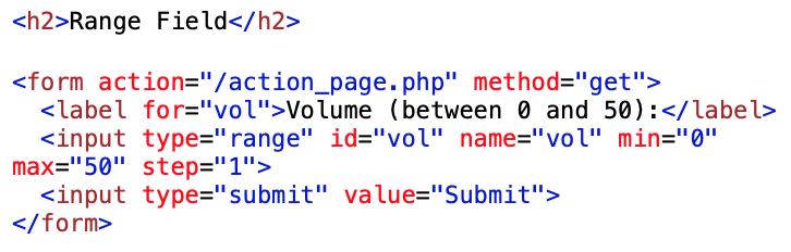 range type coding example