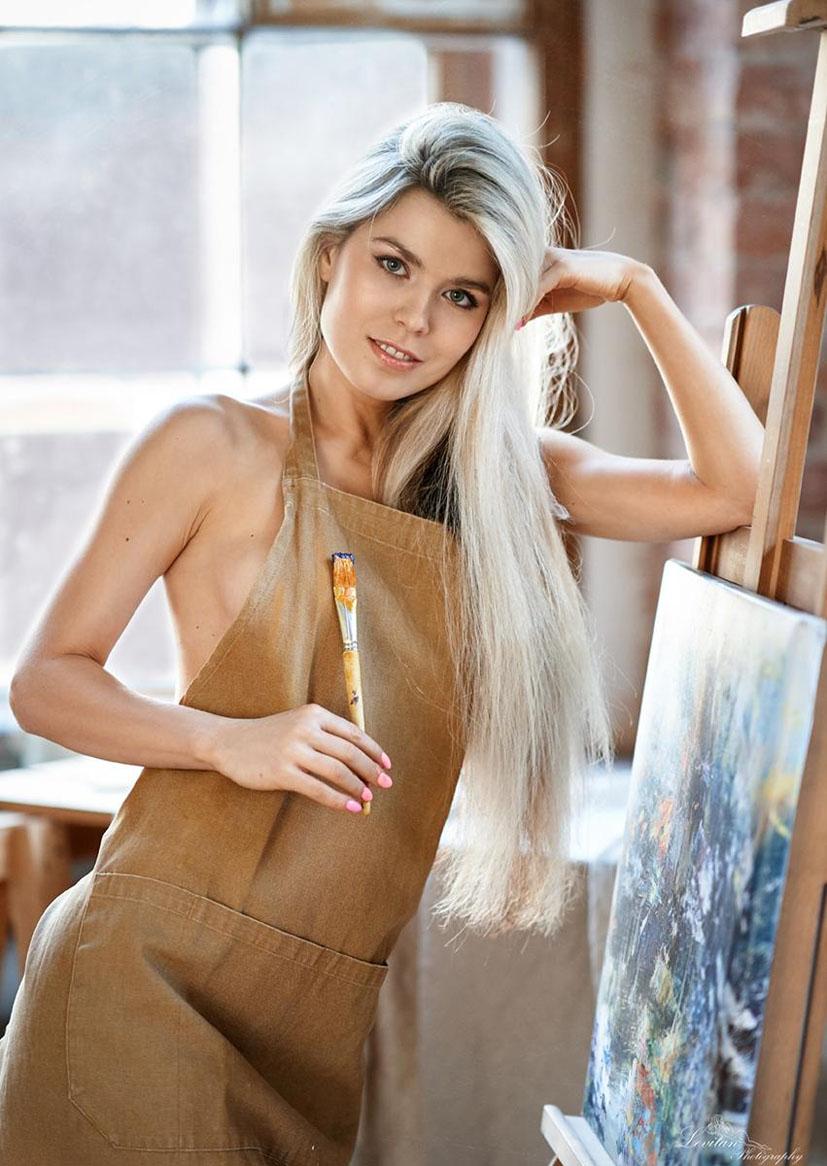 Мария Машина учится рисовать / фото 08