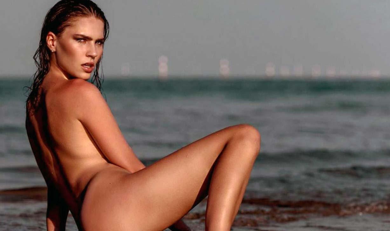 Gaja Bobek nude by Ales Bravnicar - Playboy Slovenija december 2017