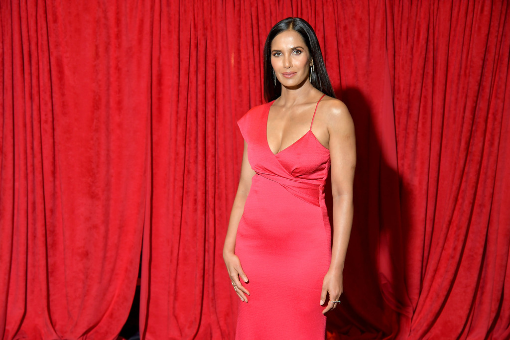 Padma Lakshmi – The AHA's Go Red For Women Red Dress Collection 2019 in NYC 07-02-2019