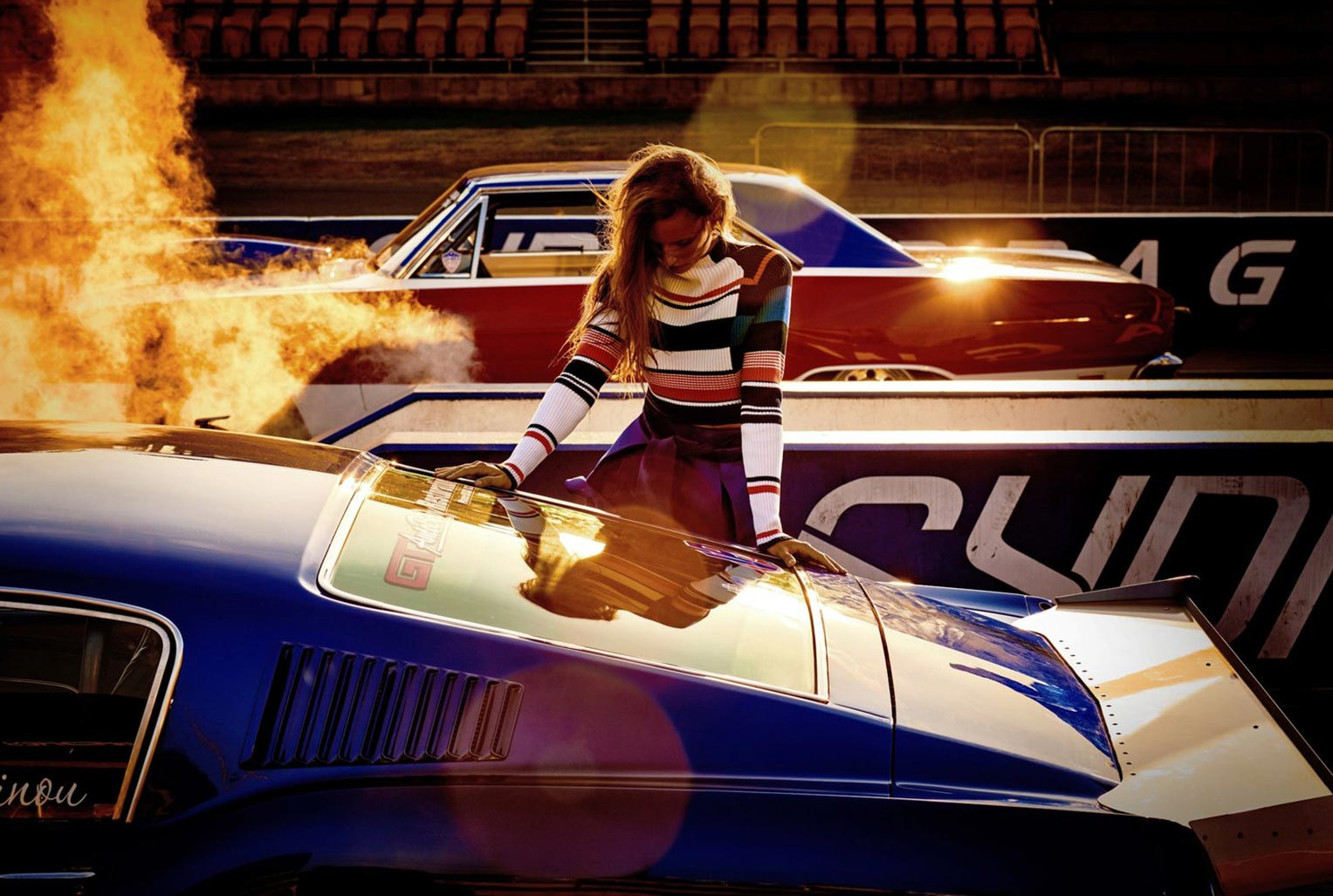 Drag Racer / Cate Underwood by David Mandelberg / Grazia Australia may 2016
