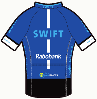 Swift tenue 2017: shirt heren, achterzijde