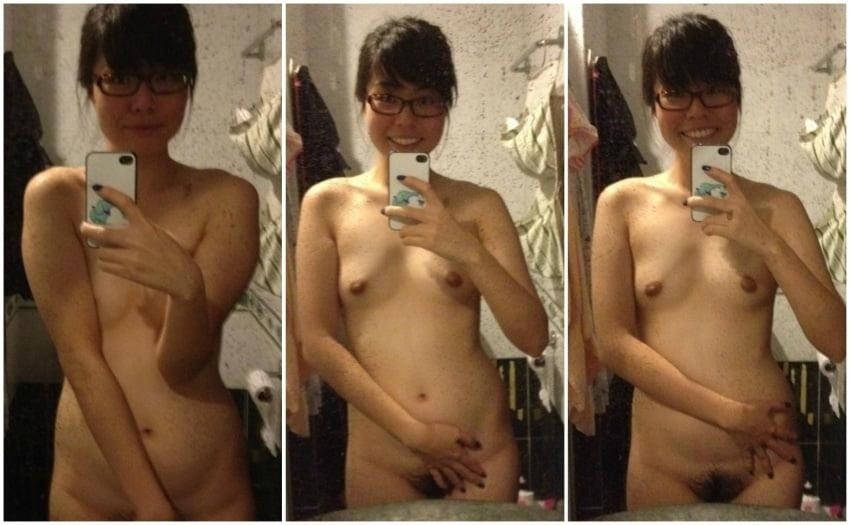 Nude asian girl selfie-9492