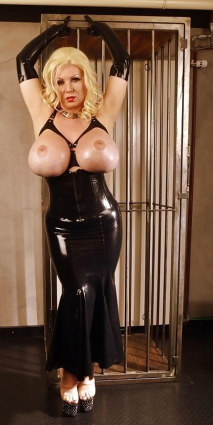 Latex big tits pics-5835
