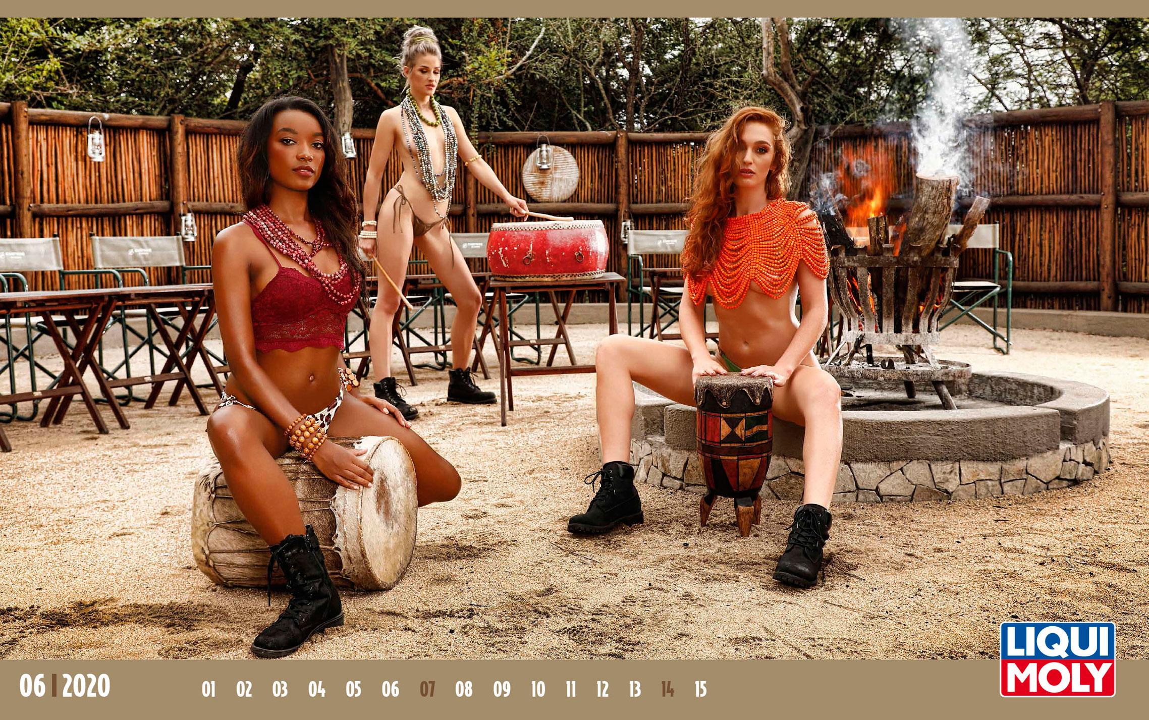 Календарь с девушками автоконцерна Liqui Moly, 2020 год / июнь-1