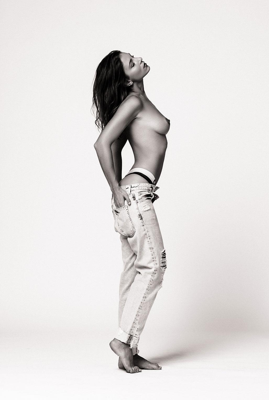 Голая модель Милунель, фотограф Бенджамин Вингриф / фото 02