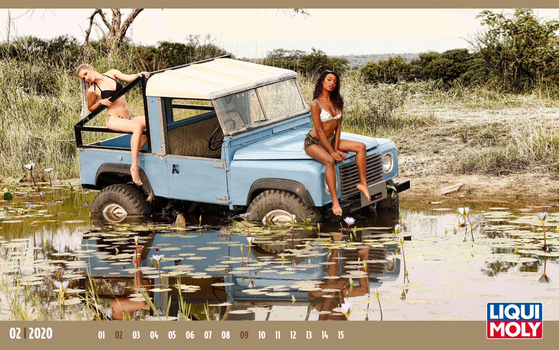 Календарь с девушками автоконцерна Liqui Moly, 2020 год / февраль-1