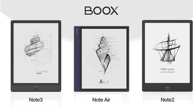 Note3 vs. Note Air vs. Note2: 10.3-inch Onyx Boox E Ink Tablets Comparison