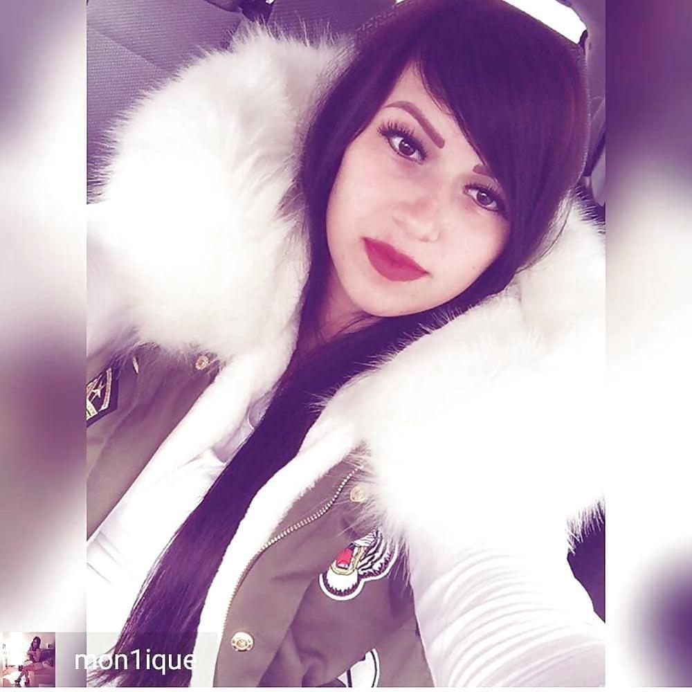 Jean jacket with brown fur-6979