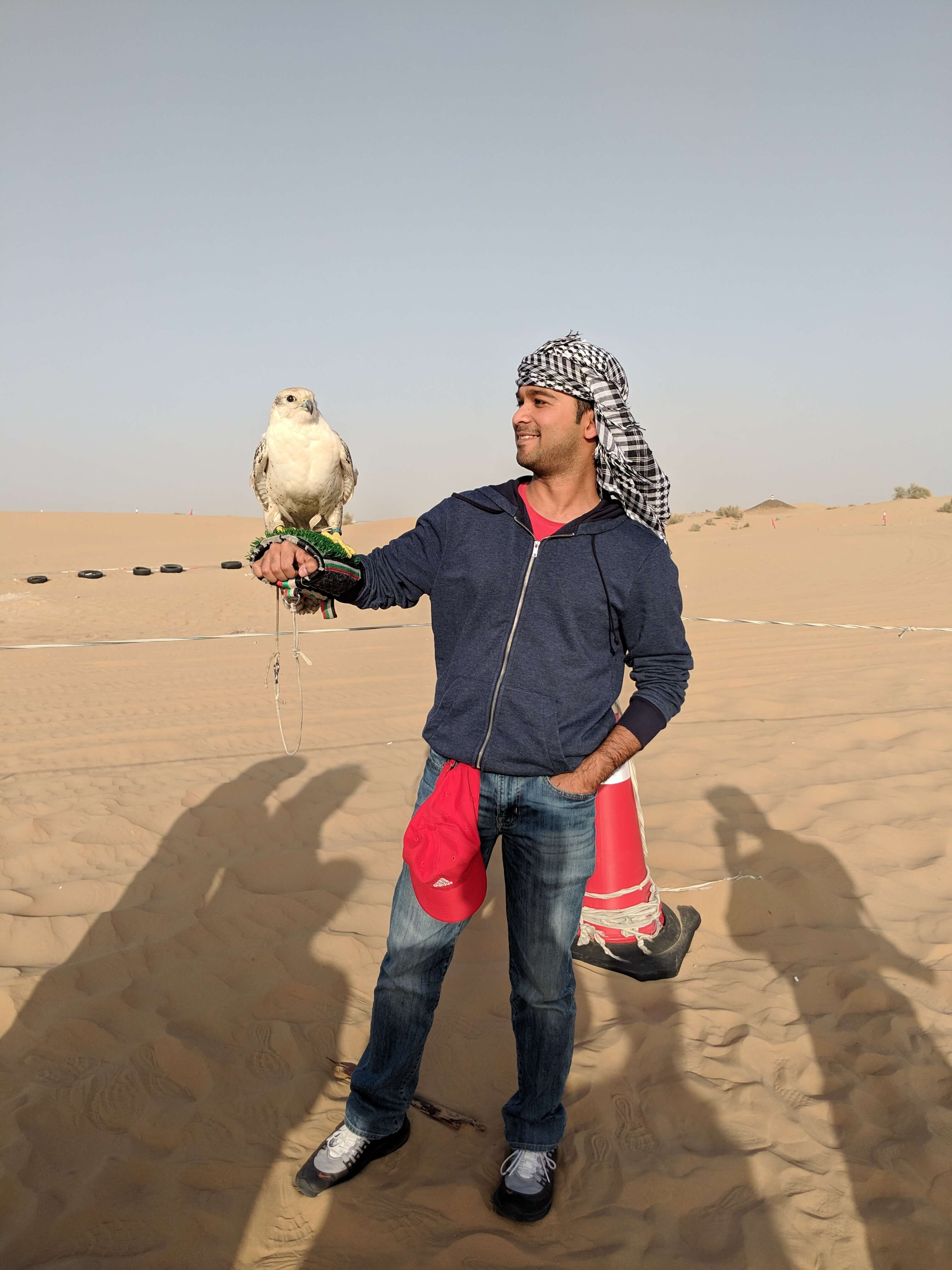 Picture with Falcon