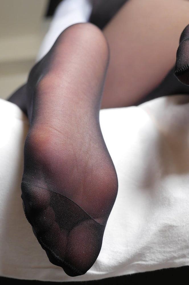 Nylon feet porn hd-4516