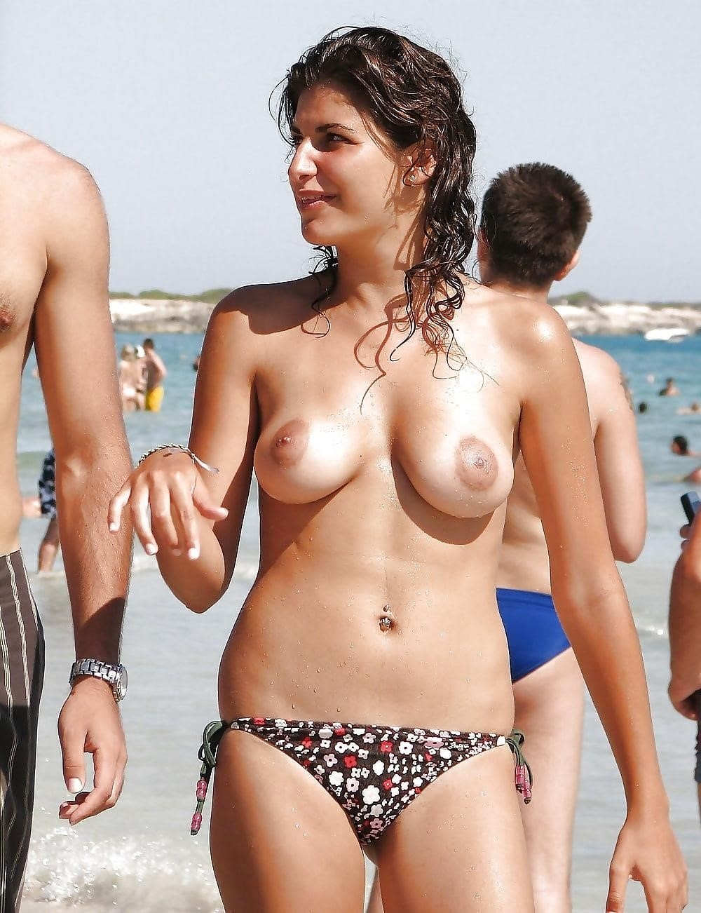 Big boobs nude on beach-6861