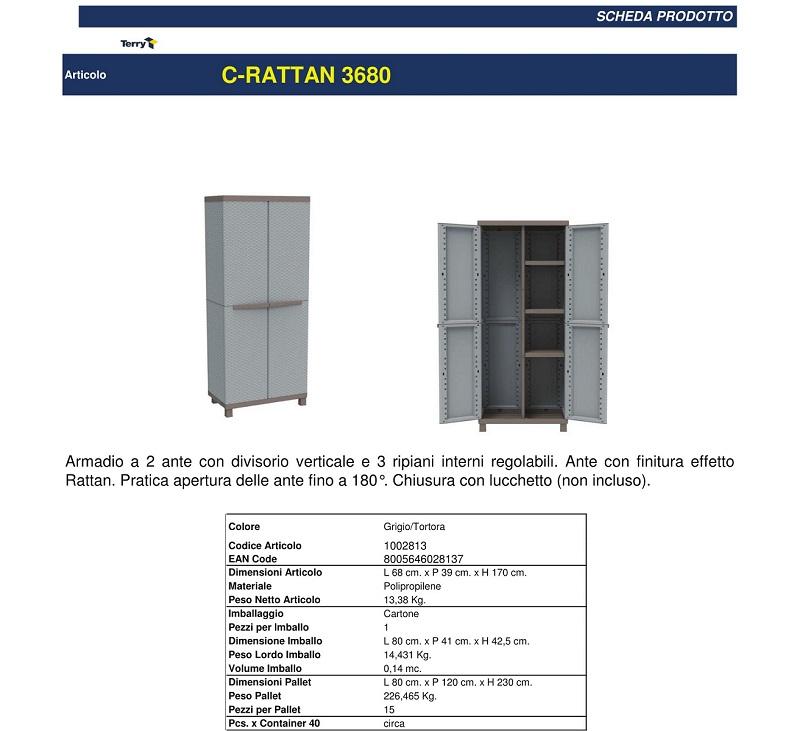 Armadio In Resina Porta Scope 2 Ante 3 Ripiani ...
