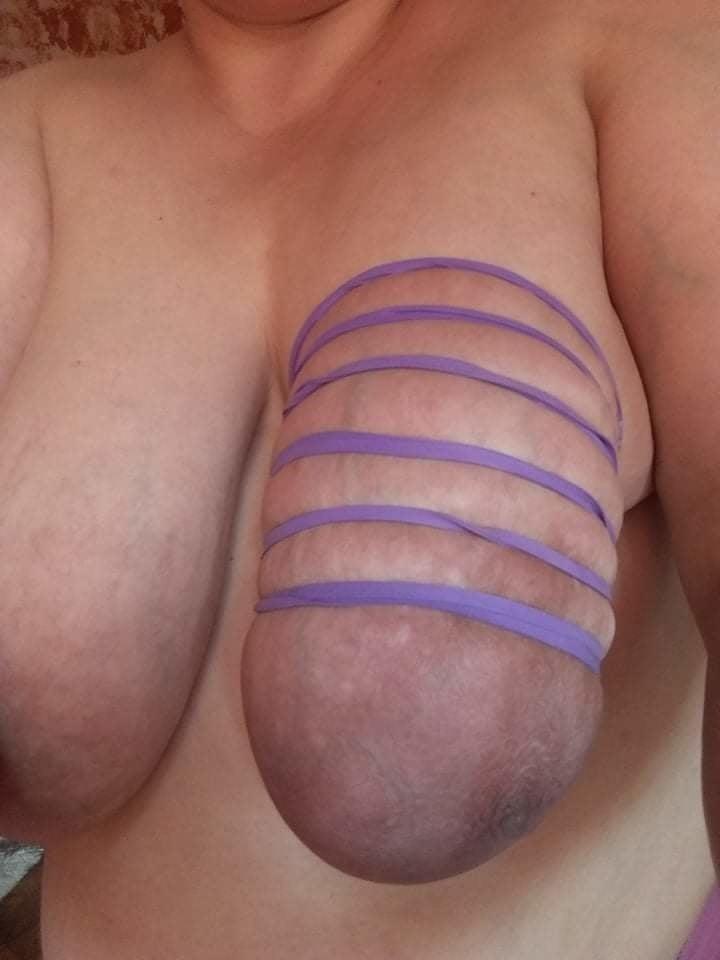 Self breast bondage-4736