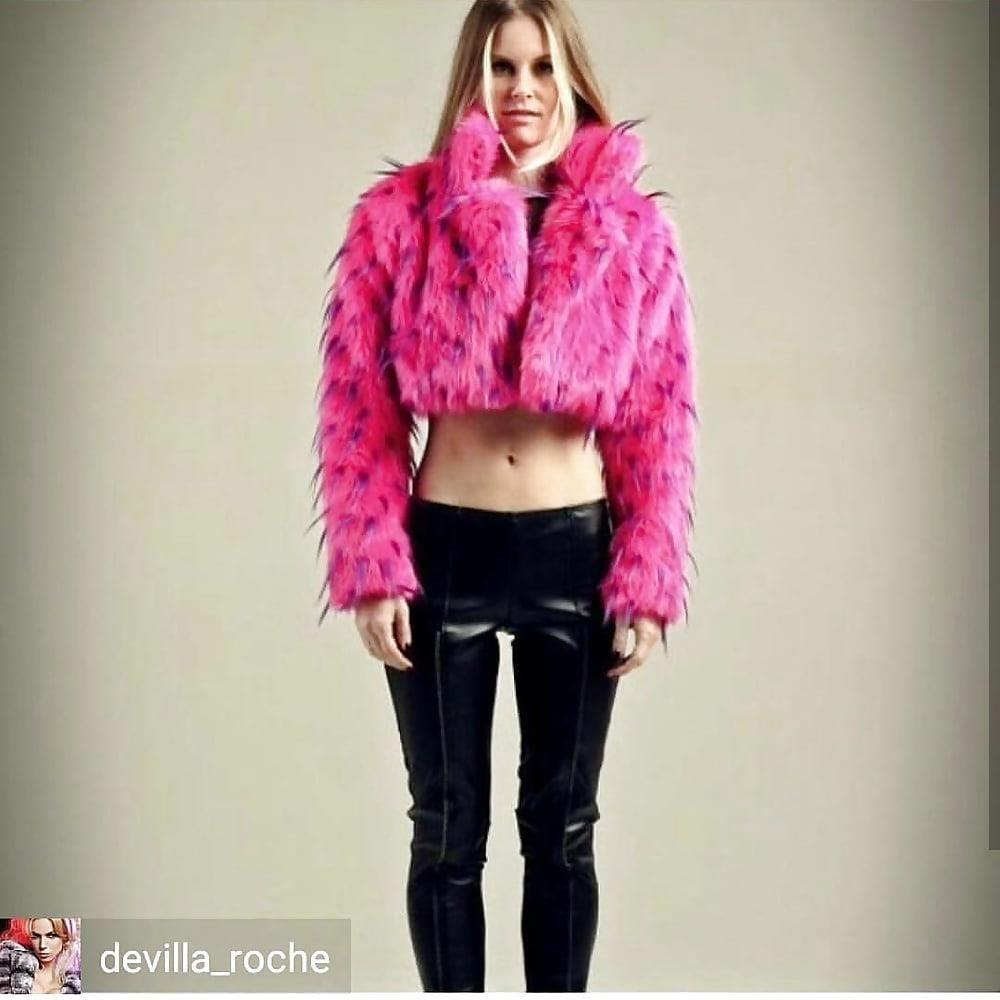 Jean jacket with fur inside-4920