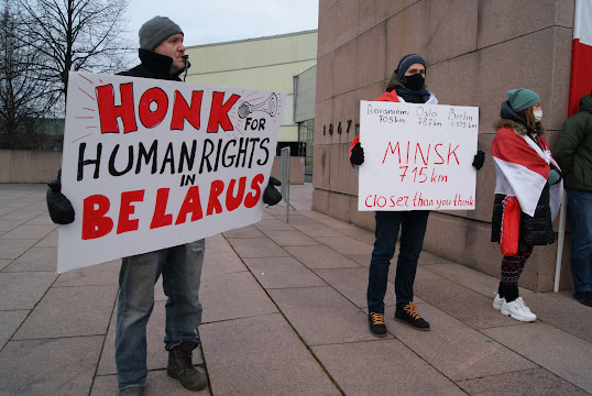 Honk for human rights in Belarus