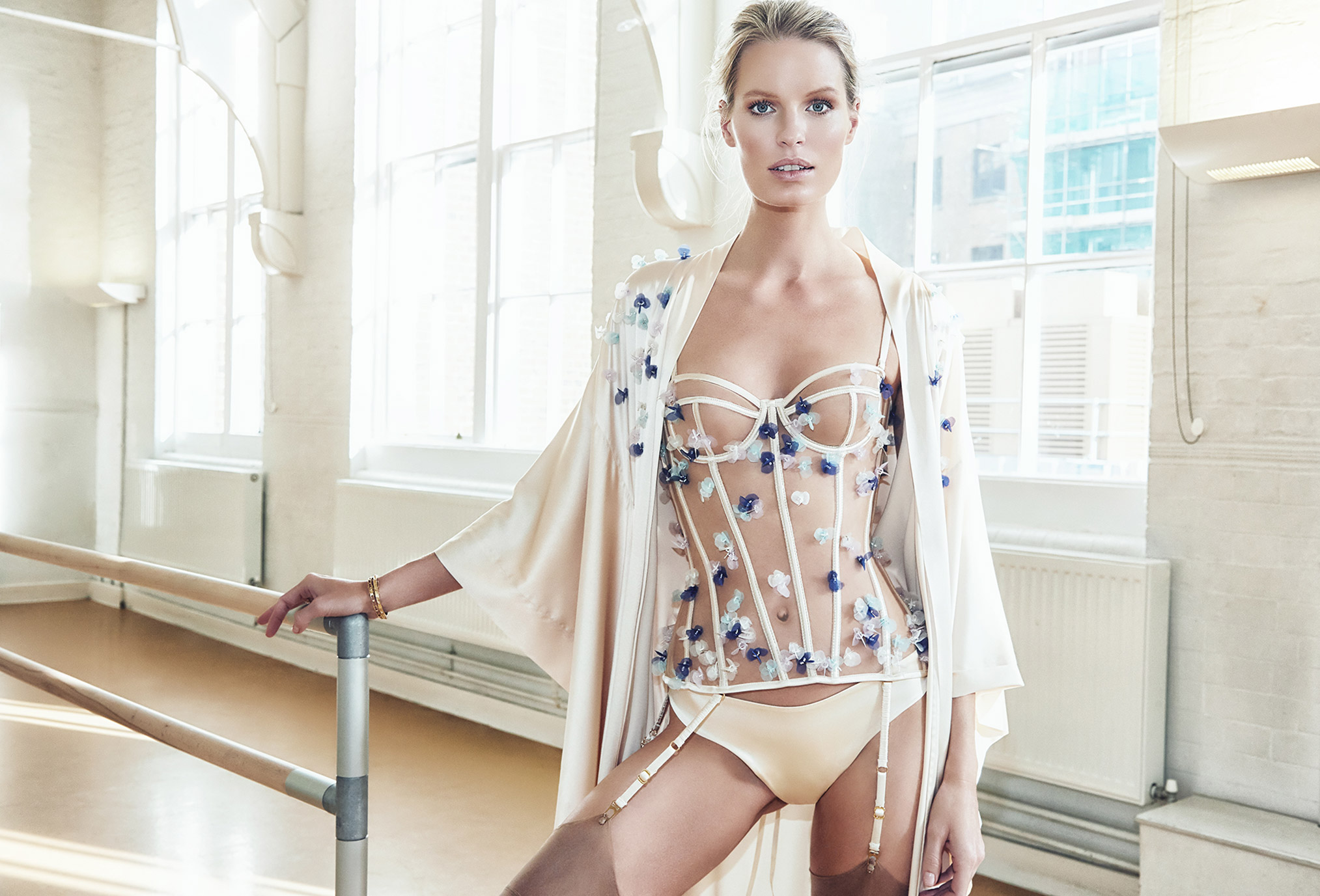 Caroline Winberg by Richard Bernardin / Luna Mae London spring/summer 2018 Bespoke campaign