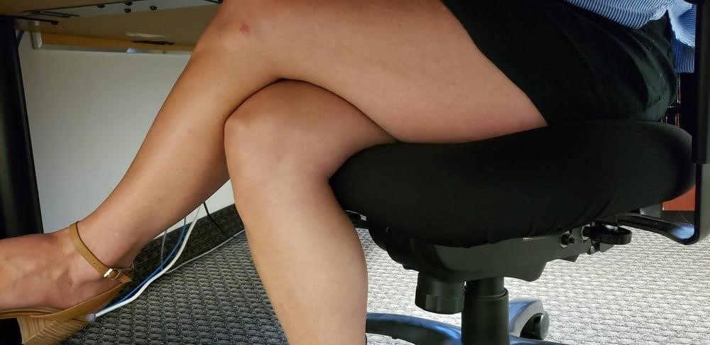 Under the desk foot worship-2854