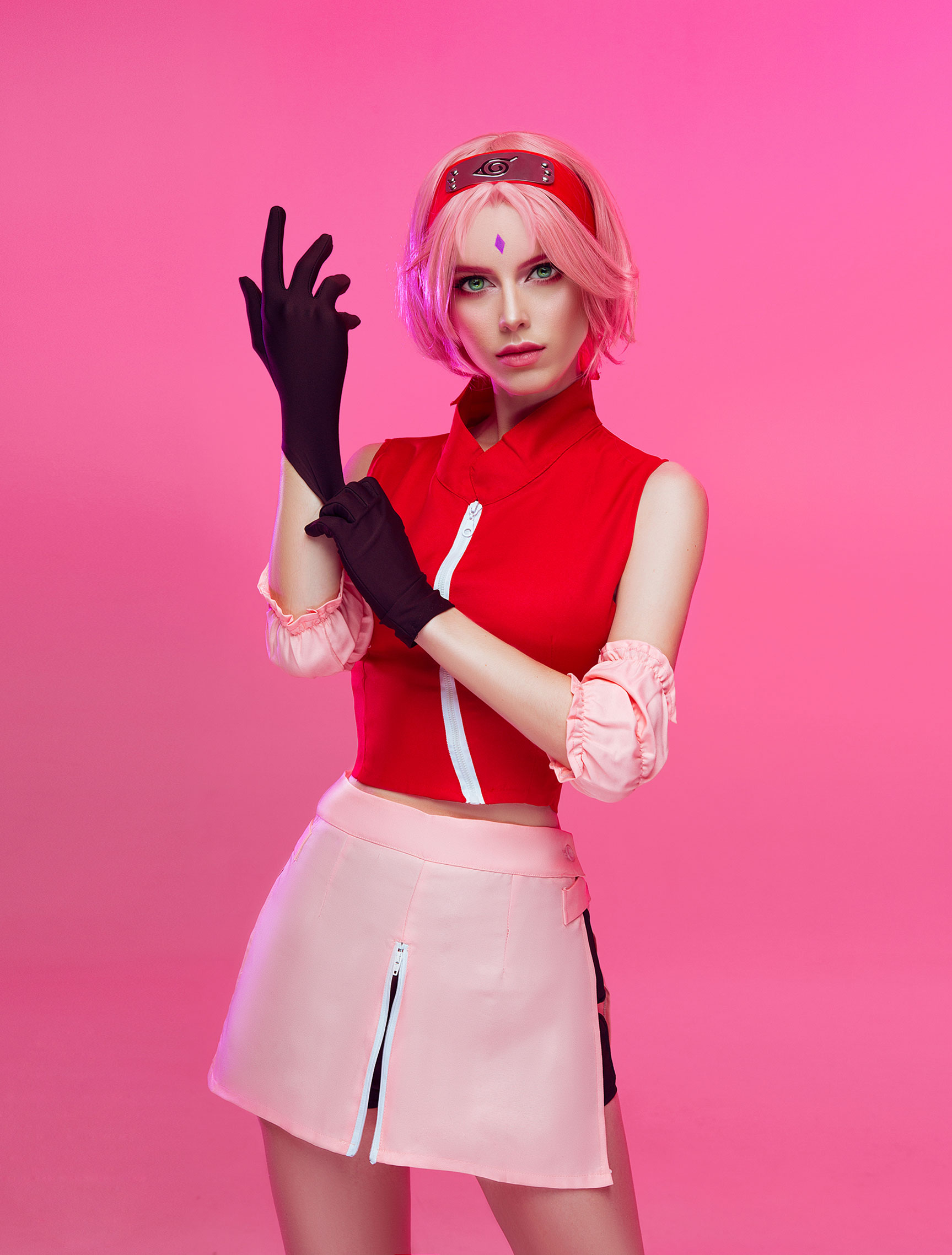 Cosplay / Katie Kosova / Катя Косова в роли Sakura Haruno из аниме Naruto / фотограф Tim Rise