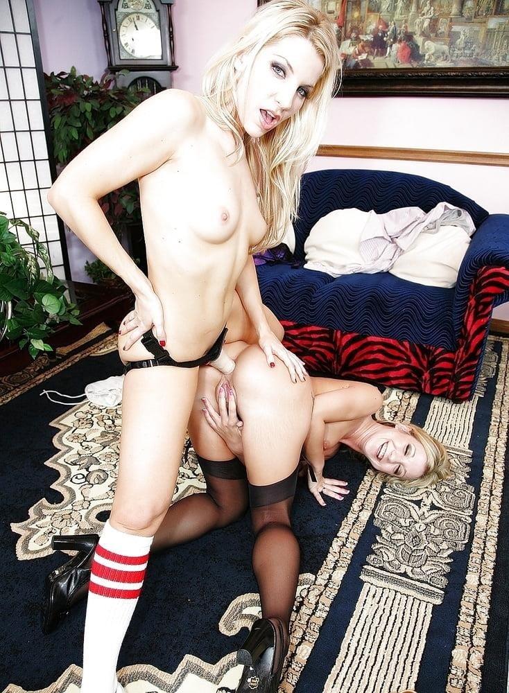 Lesbian strapon spanking-9494