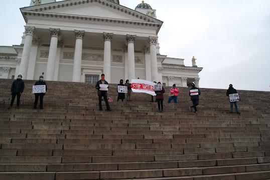 С акции в Хельсинки