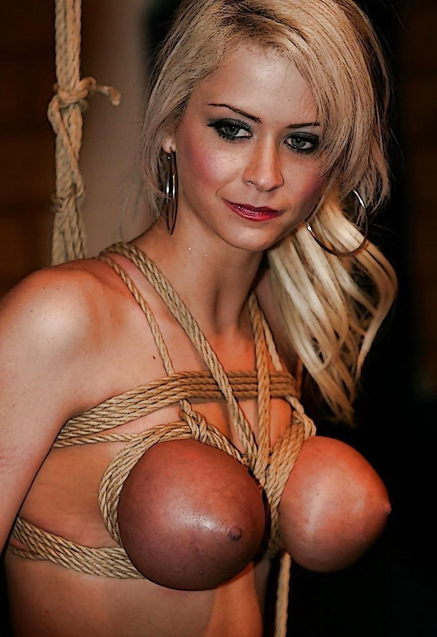 Breast bondage and torture-7717