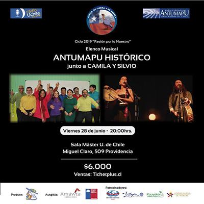 Antumapu Histórico Elenco Musical y el dúo Camila y Silvio