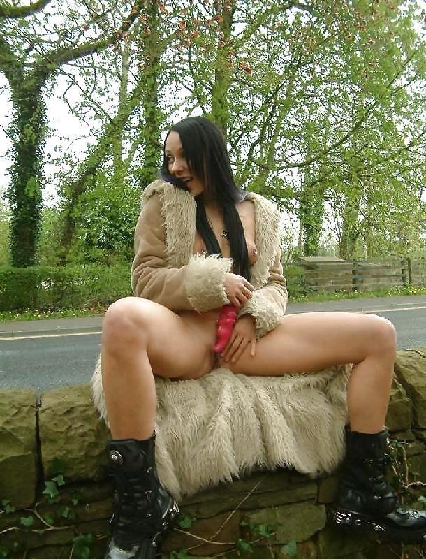 Teen dildo in public-1606