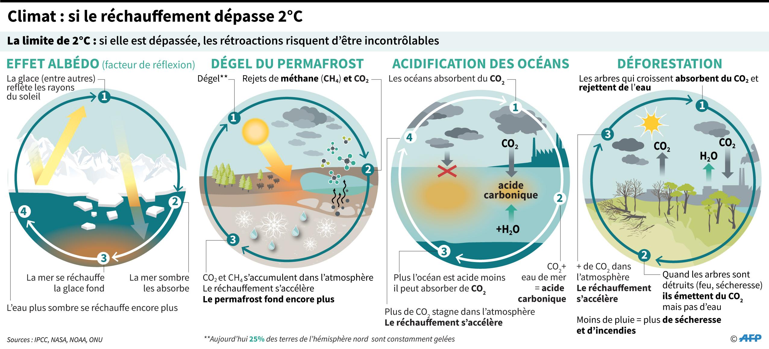 Boucles de rétroaction sur le climat