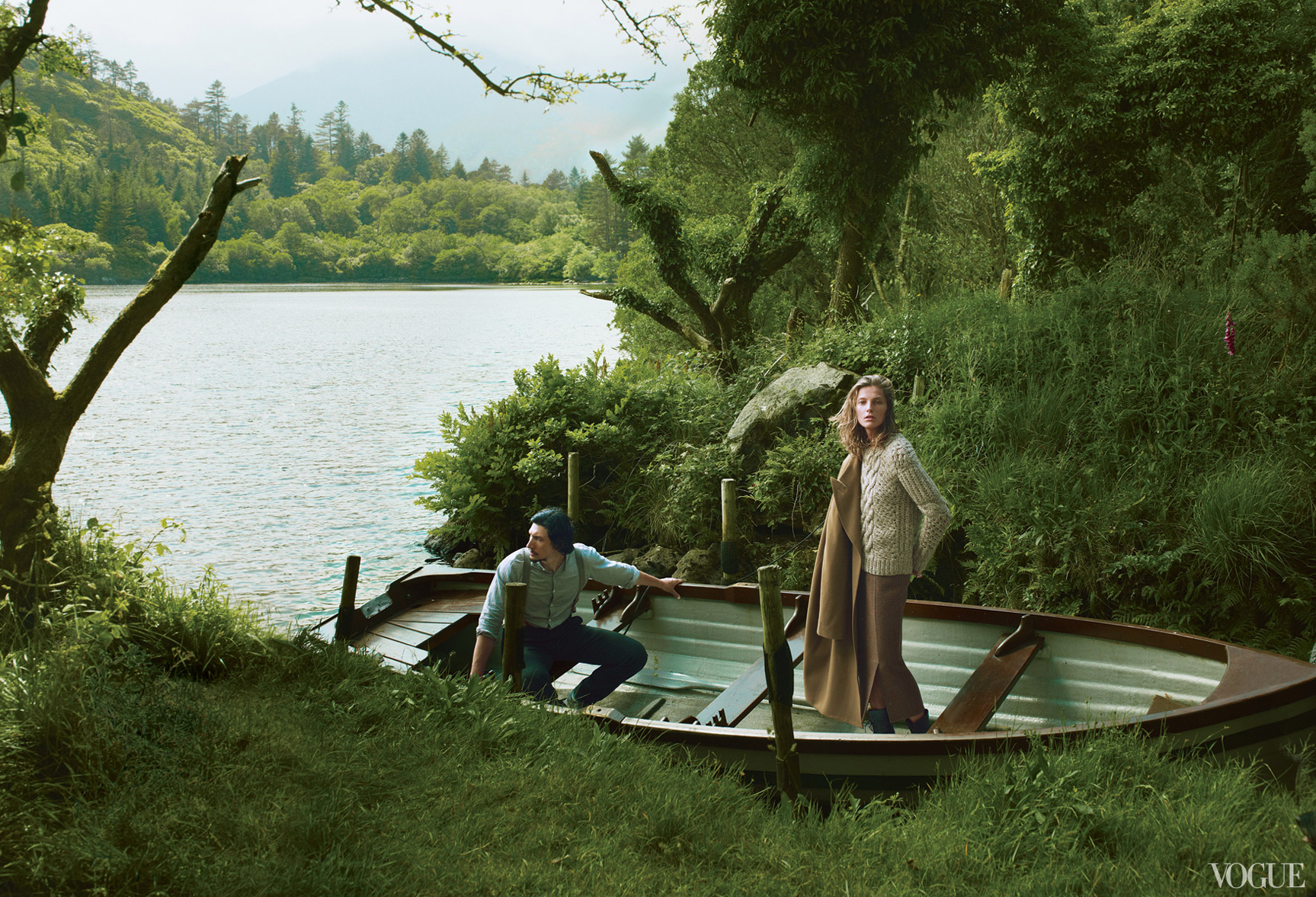 Дарья Вербовы и Адам Драйвер отдыхают на необитаемом острове / фото 08