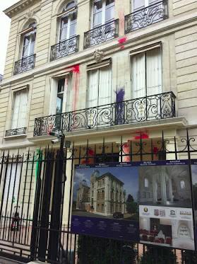 Фасад посольства Беларуси