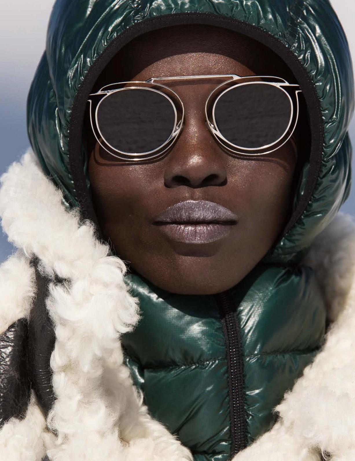 Grace Bol by Hans Feurer - Vogue Germany december 2017