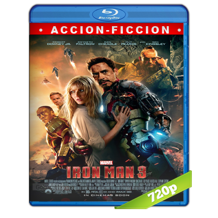 descargar Iron Man 3 720p Lat-Cast-Ing 5.1 (2013) gratis