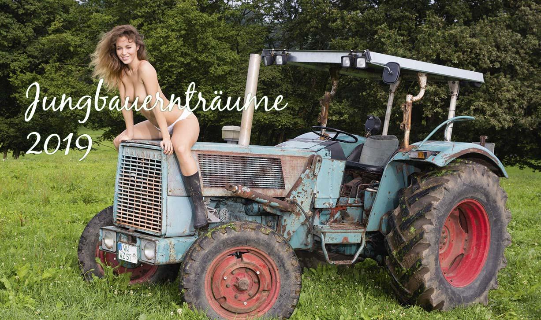 Мечты юного фермера - календарь с сексуальными девушками и винтажными тракторами / Jungbauerntraume 2019