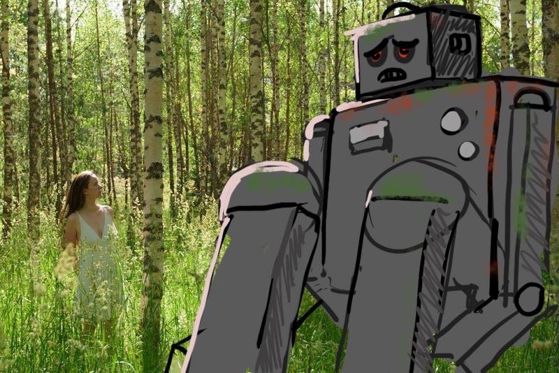 Robot Encounter – Initial Sketch