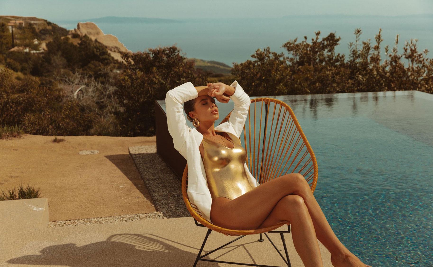 Мара Тиген в нижнем белье и купальниках модного бренда Gooseberry Intimates / фото 34
