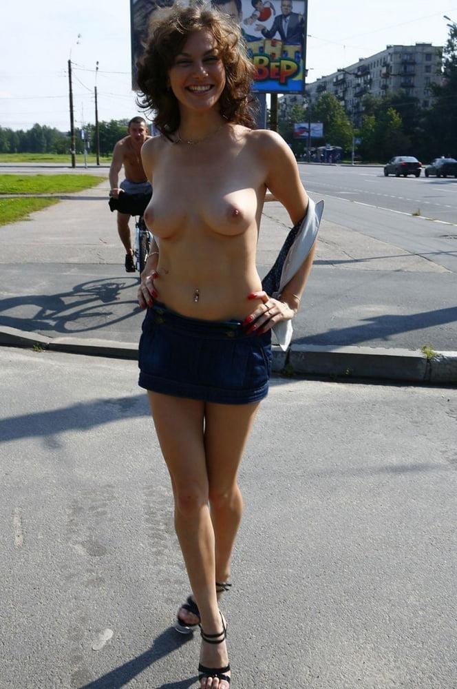 Big boobs in public pics-1071