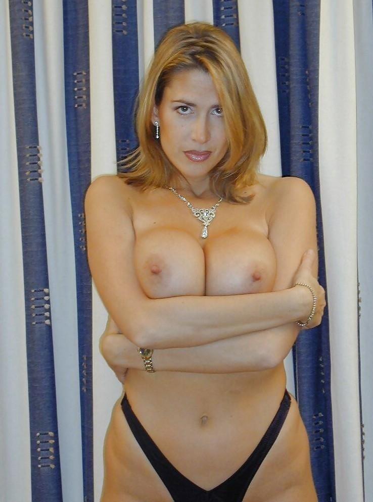 Hot big tits blonde milf in first porn mompov-6445