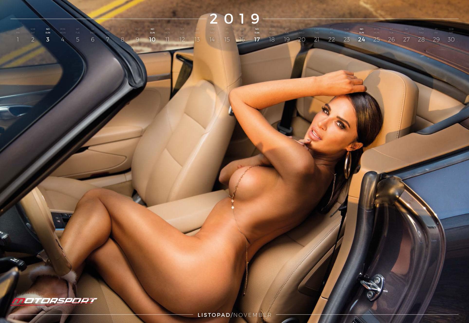 ноябрь - эротический календарь 2019 Inter Cars SA / польский дистрибьютор автомобилей, сопутствующих товаров и запчастей