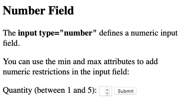 number type render